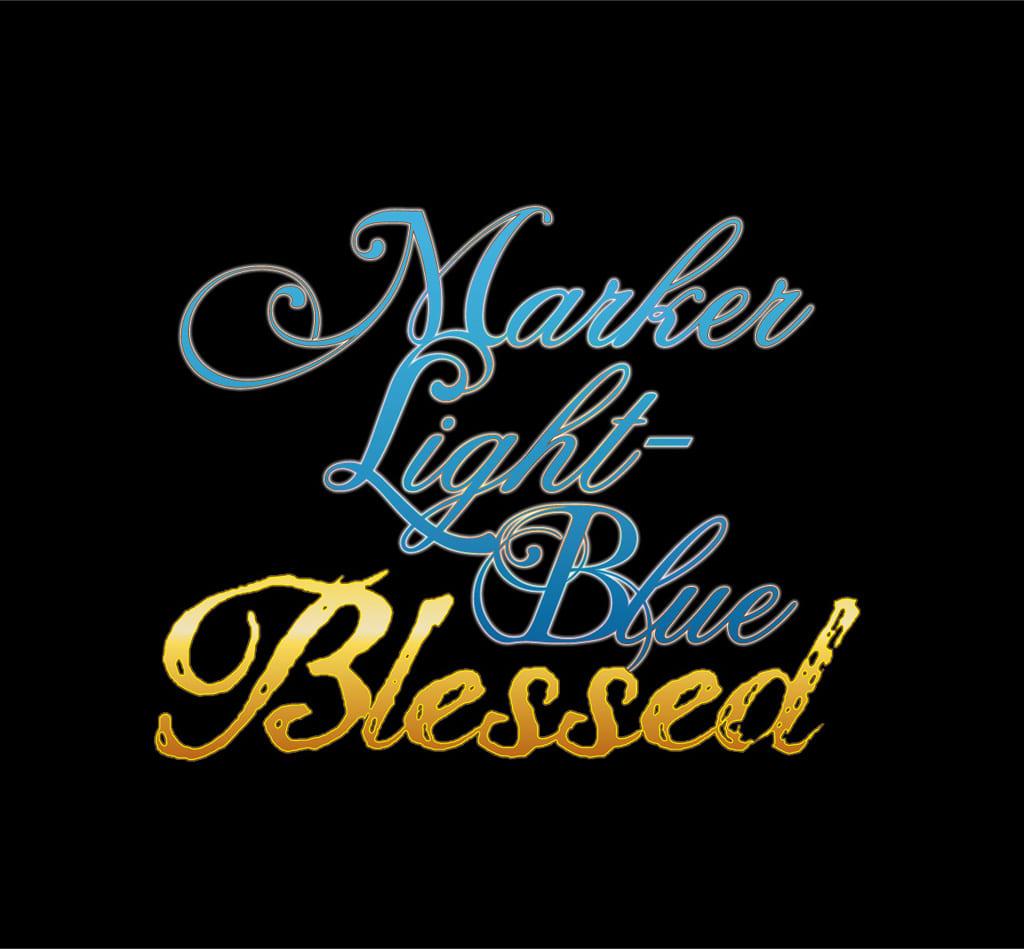 MARKER LIGHT-BLUE Blessed