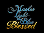 MARKER LIGHT-BLUE Blessed